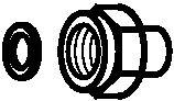 060-333466 Переходник G⅜ x ⅛ - 27 NPT Danfoss