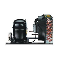 114G0503 Холодопроизводительность 51 Вт, потребляемая мощность 64 Вт (Тисп.=-25° С, Тос=+32°). Хладагент R134a. Напряжение питания: компрессор - 220В/1ф/50Гц; вентилятор - 220В/1ф/50Гц. Danfoss